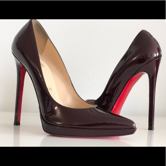45fad4037c8f CHRISTIAN LOUBOUTIN PIGALLE PLATO 120 BURGUNDY